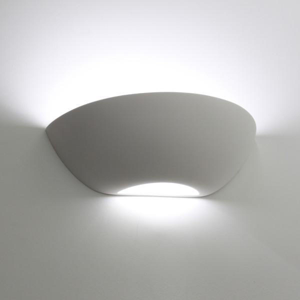 Tornado T6223 Curved Plaster Wall Light