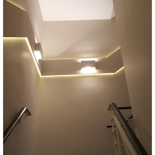 Plaster Wall Lights For Painting : Tornado TR8281 Linear Plaster Wall Light