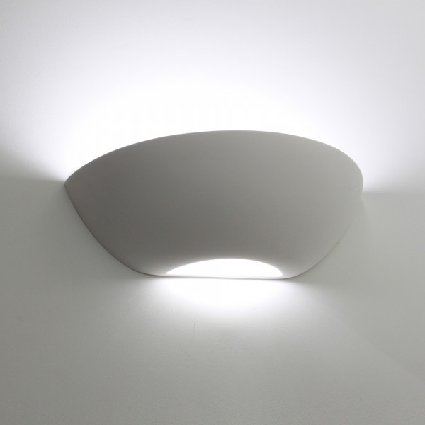 Tornado T6223 Curved Plaster Wall Light