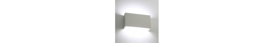 Linear Plaster Wall Lights